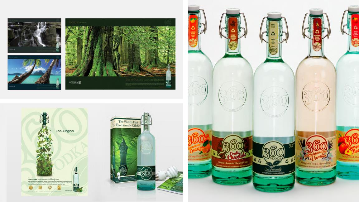 360 Vodka: Category Leader from Eco-friendly Design