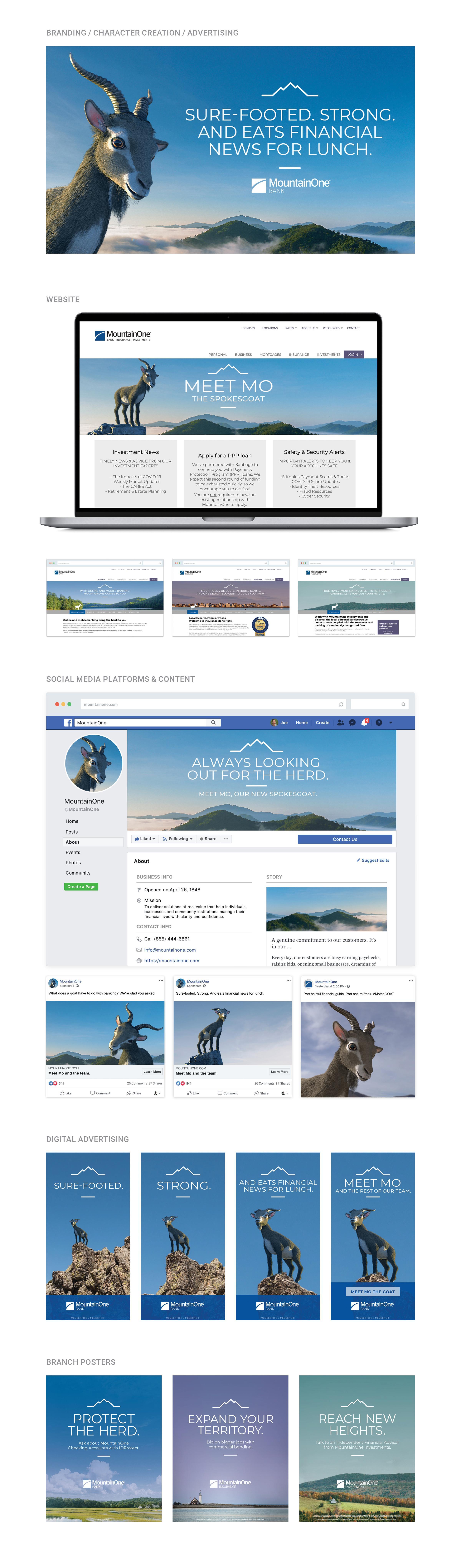 MountainOne Bank Branding & Advertising
