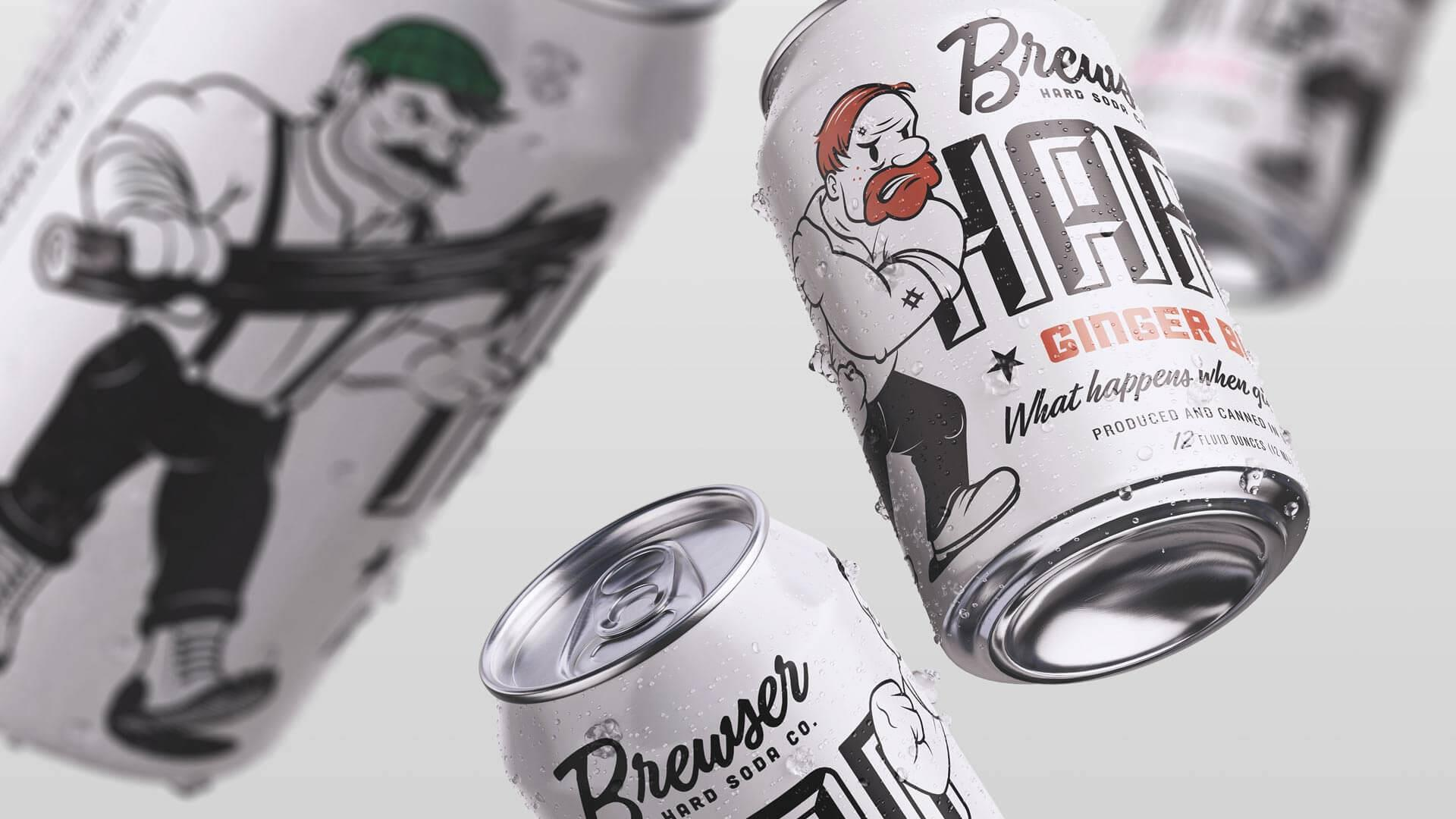 Brewser Hard Soda Co. :: Package design that packs a punch.