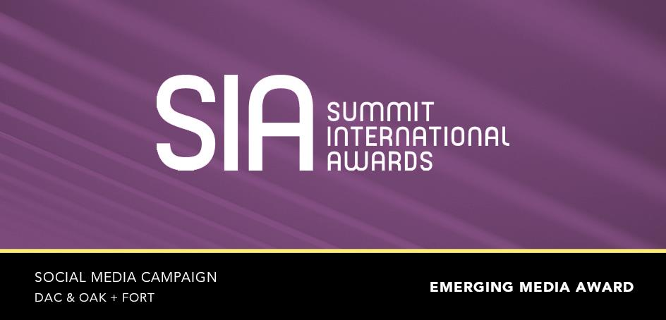 2020 Summit International Awards: Social Media Campaign | DAC