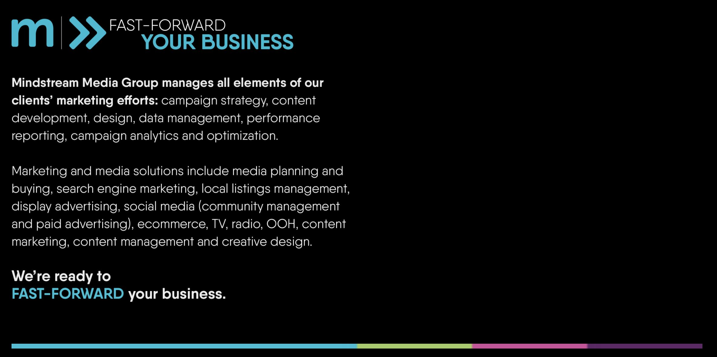Mindstream Media Group Helps Fast-Forward Your Business