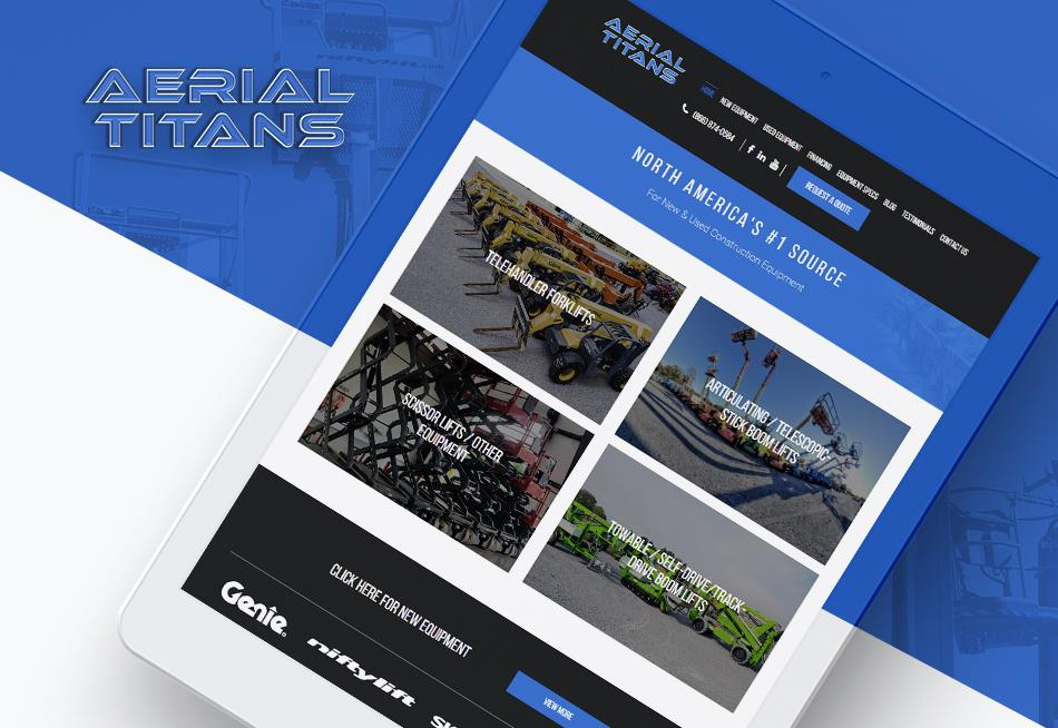 Website Redesign for Boom Lift Rental Company