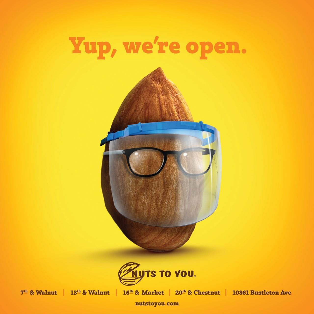 Brownstein and Nuts to You Unveil Cheeky New Campaign Featuring Lots of Snacks and PPE