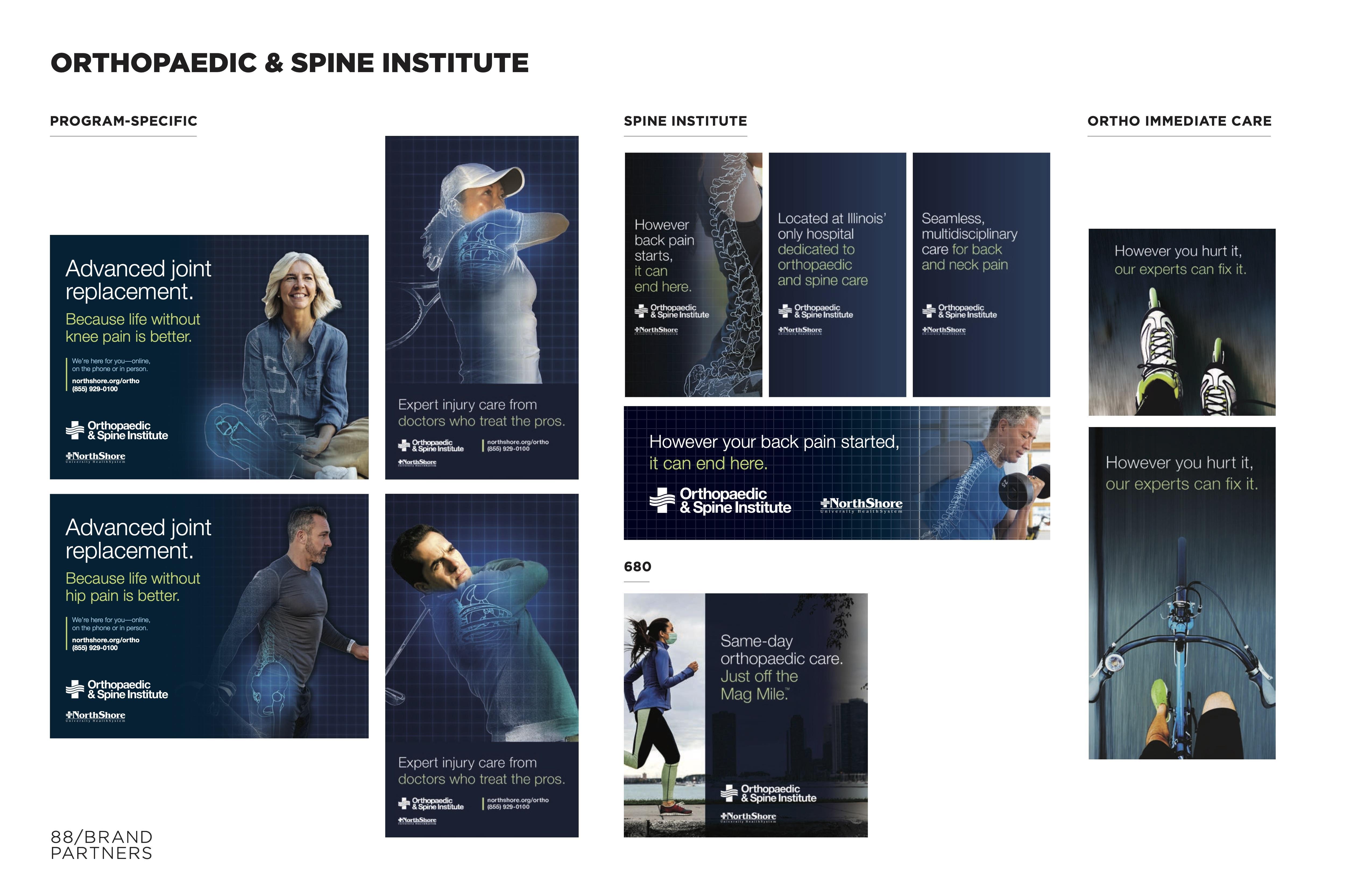 NorthShore Orthopaedic & Spine Institute Campaign