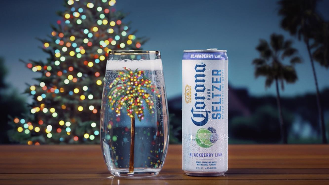 Corona Hard Seltzer Nod to Classic Corona 'O'Tennenpalm' Ad.