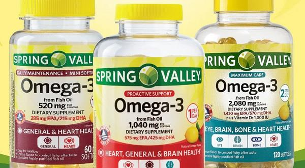 Walmart: Spring Valley Omega-3