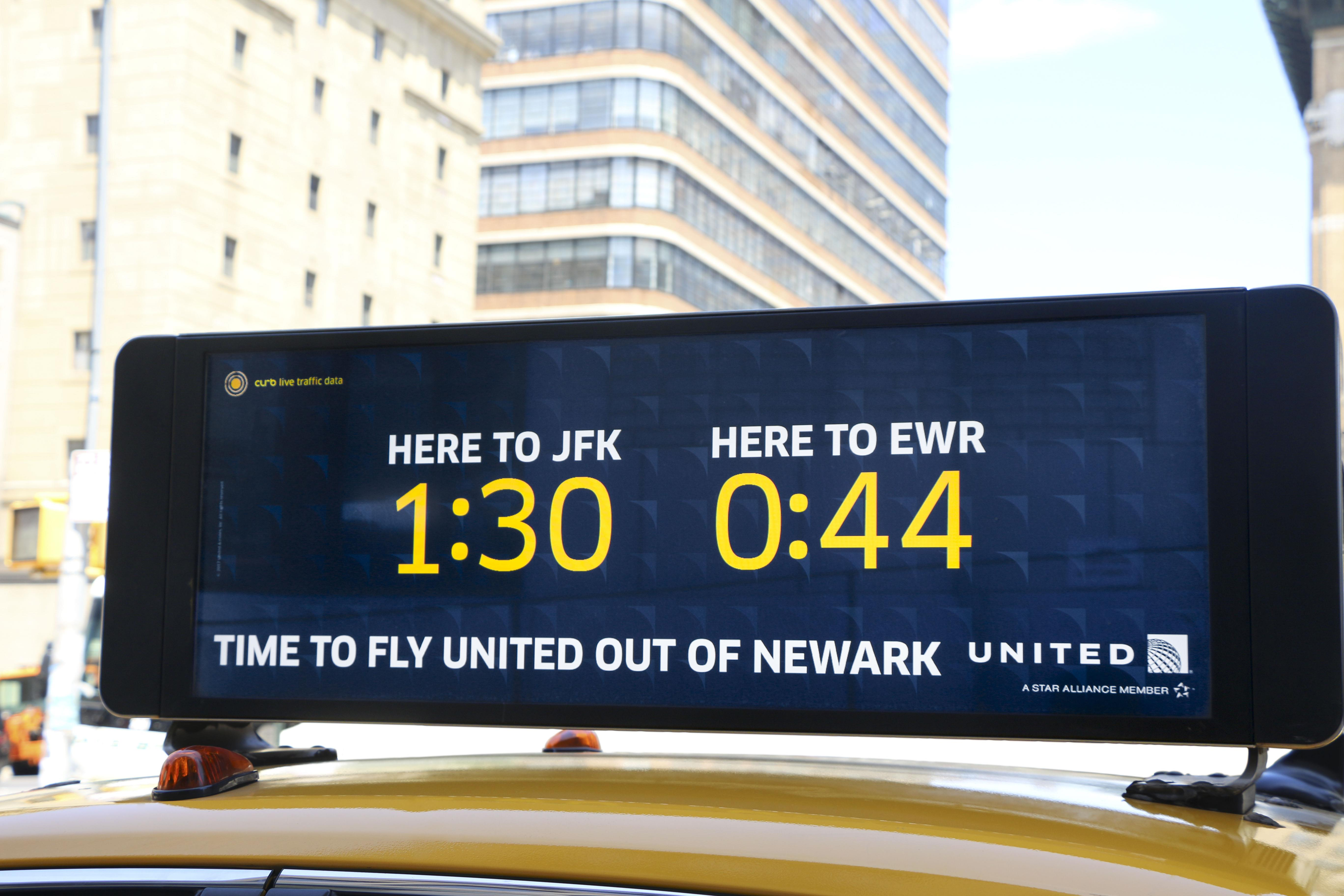 United Airlines uses real-time traffic data to prove that New Yorkers should fly out of Newark versus JFK