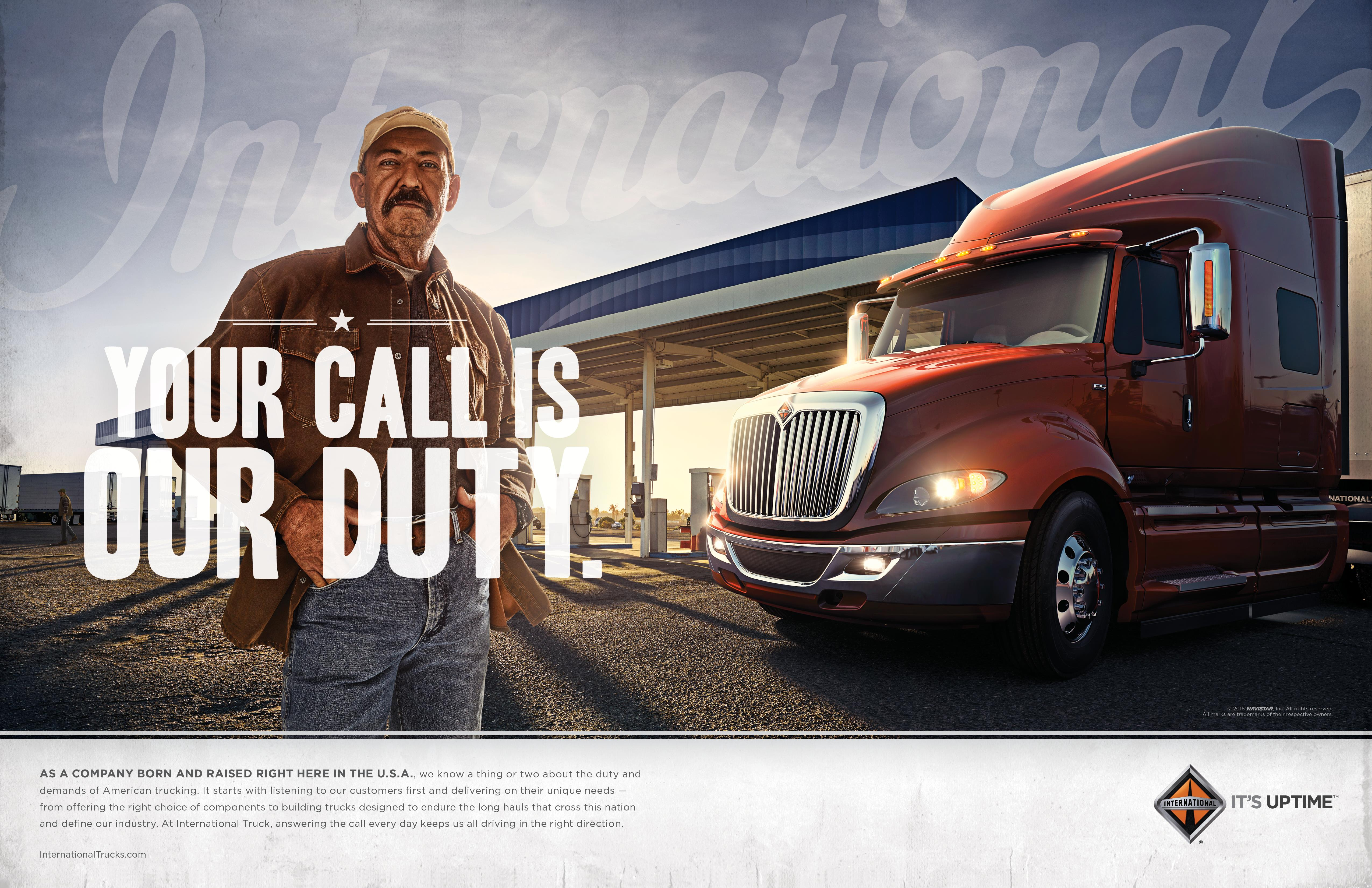 International Trucks: Your Call is Our Duty