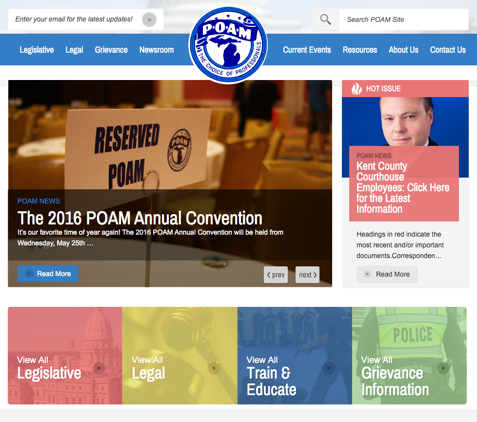 Police Officers Association of Michigan Website