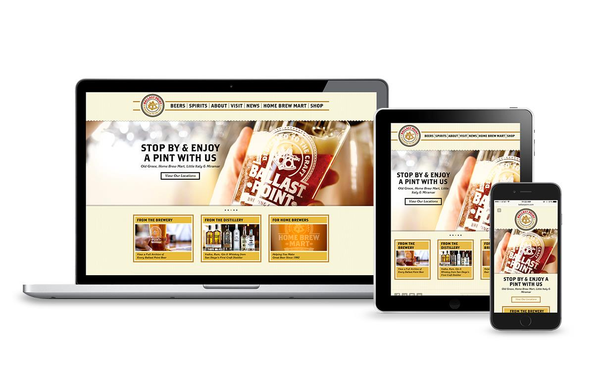 Ballast Point Website