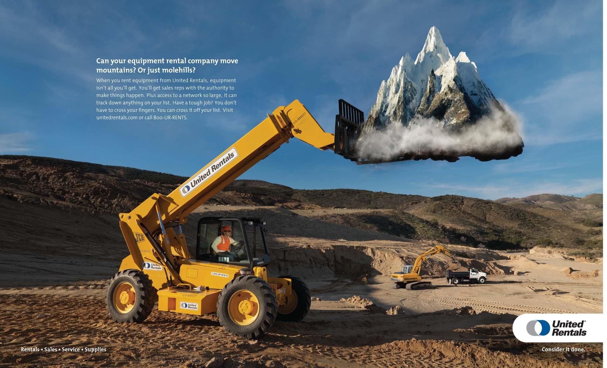 "United Rentals: ""Mountain"" Print"