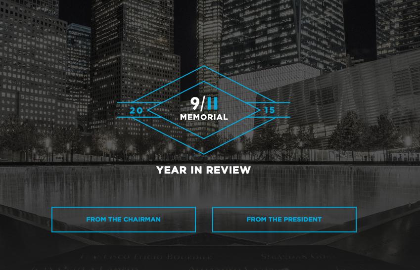 2015 Annual Report, 9/11 Memorial