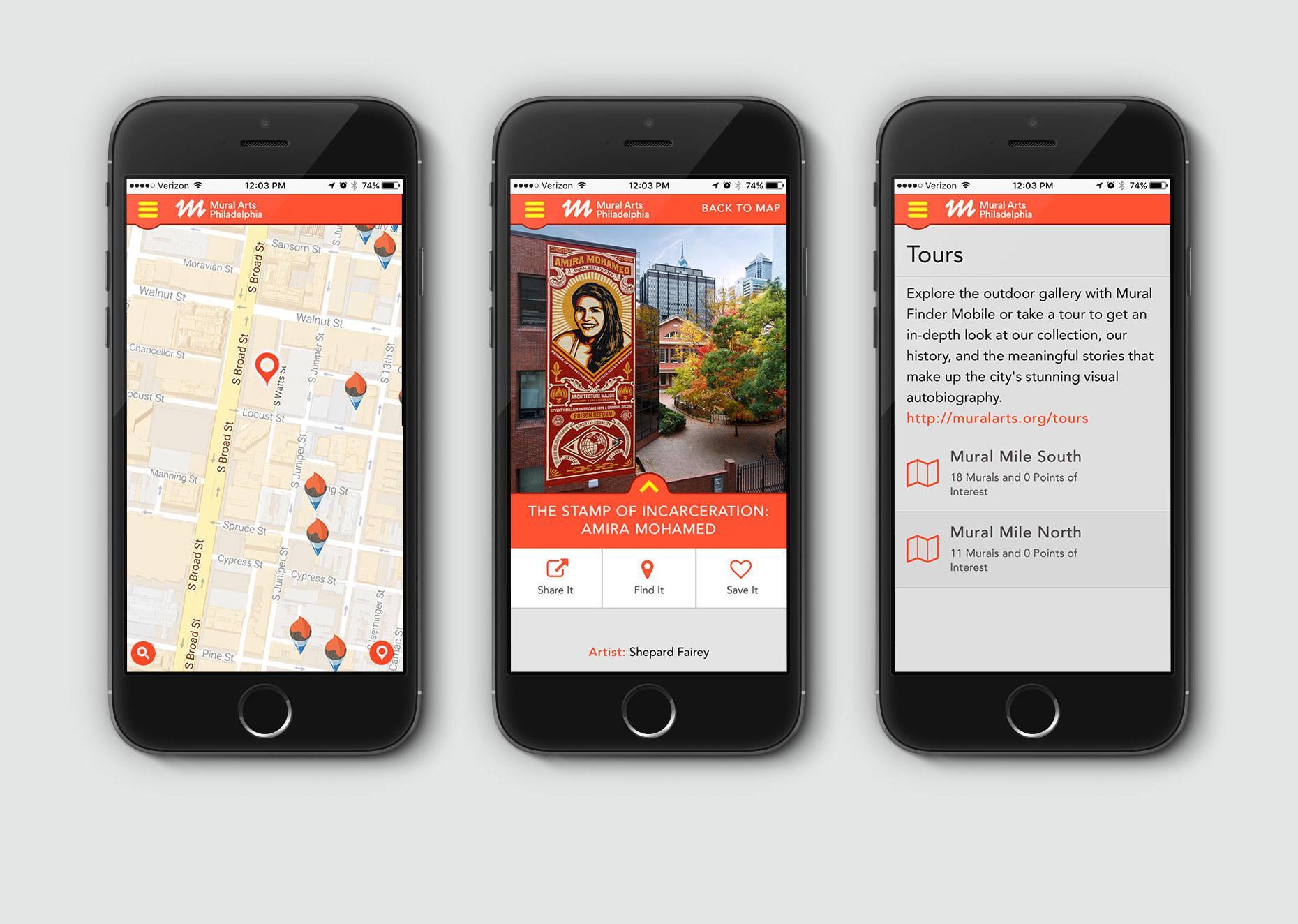 Mural Arts Philadelphia Mobile App