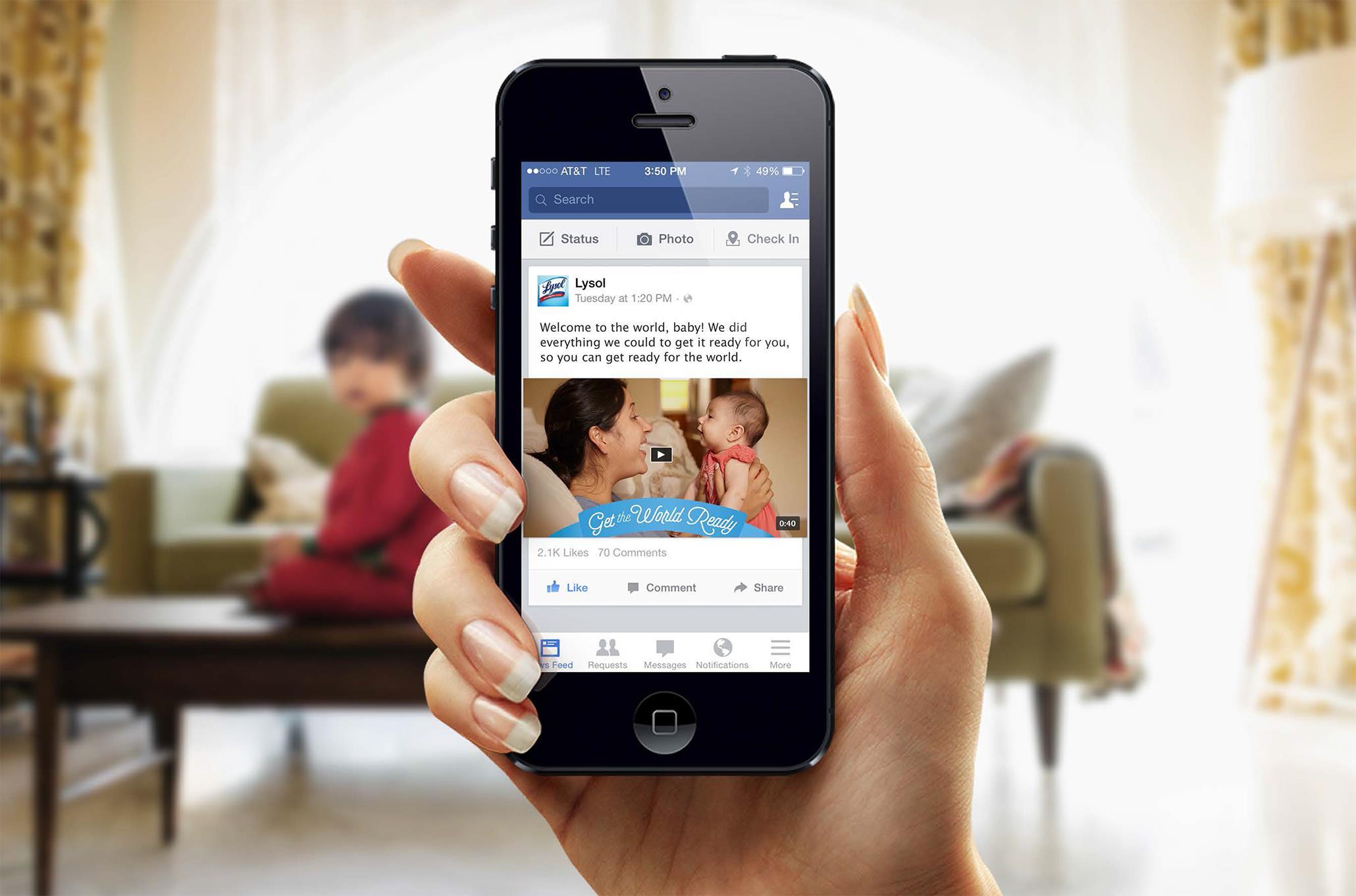 Lysol New Moms: Dear Baby Facebook Campaign