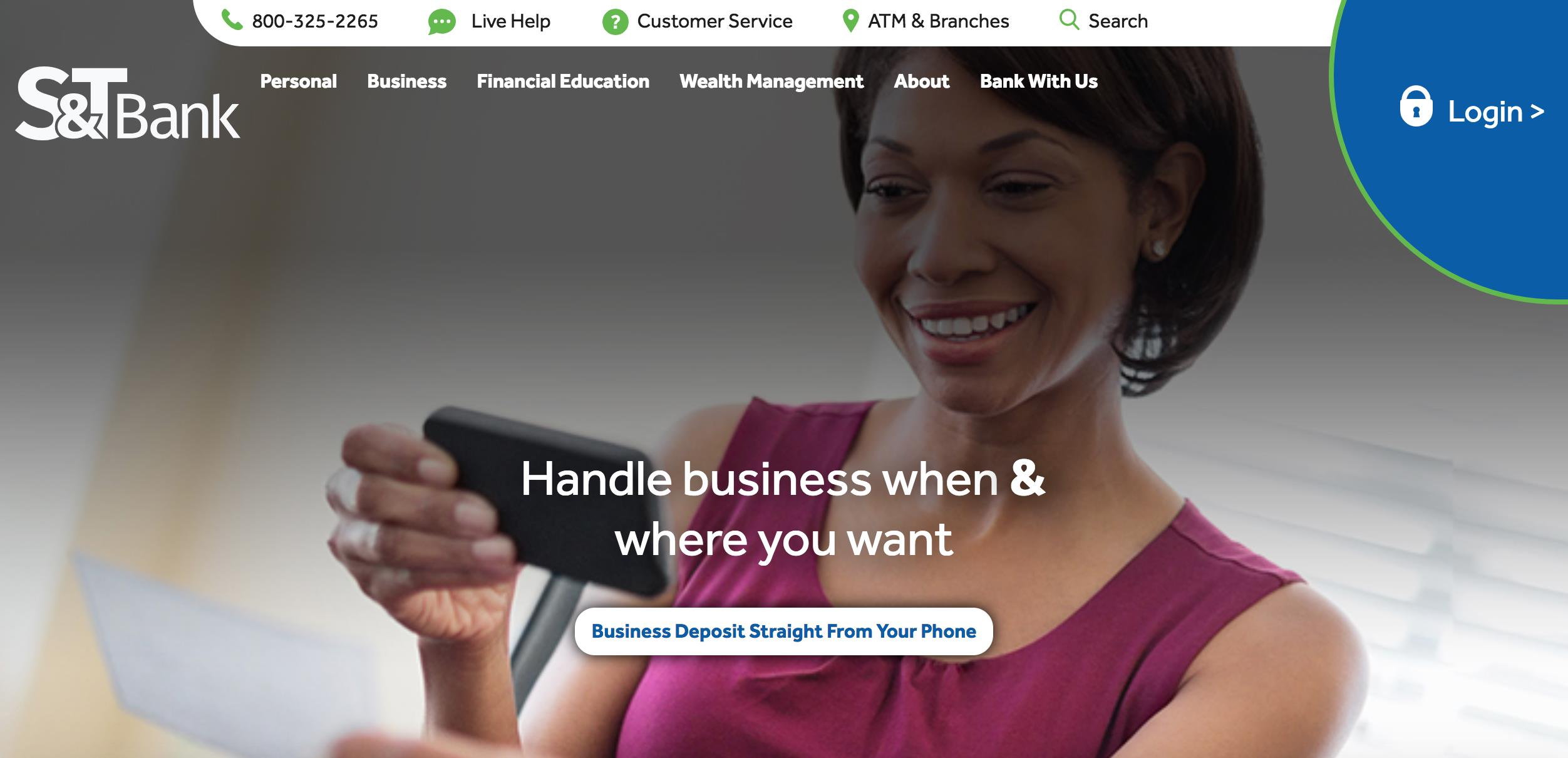 S&T Bank Website Redesign
