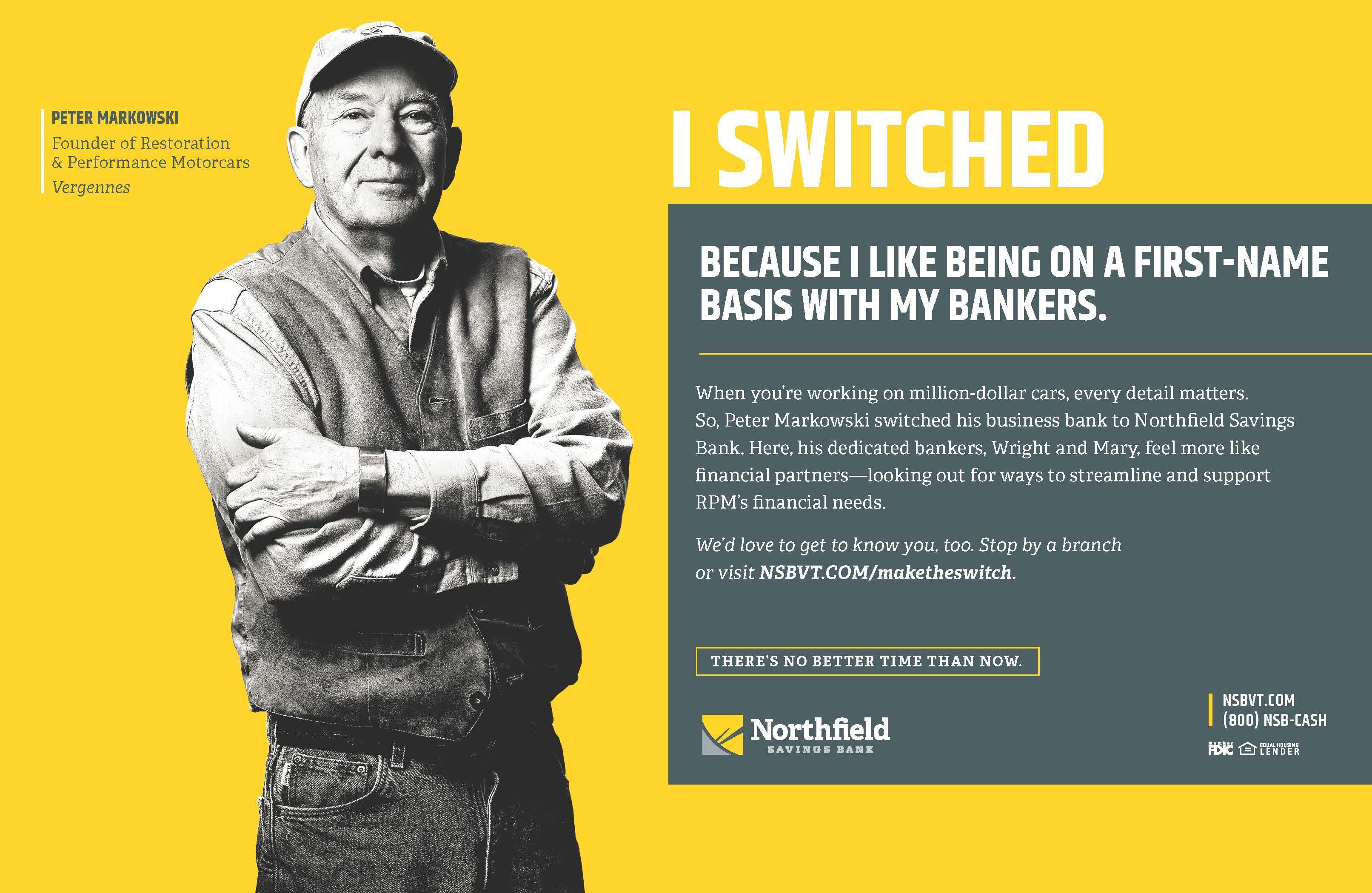 Northfield Savings Bank 2019 Switch Campaign