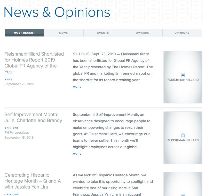 News & Opinions - FleishmanHillard