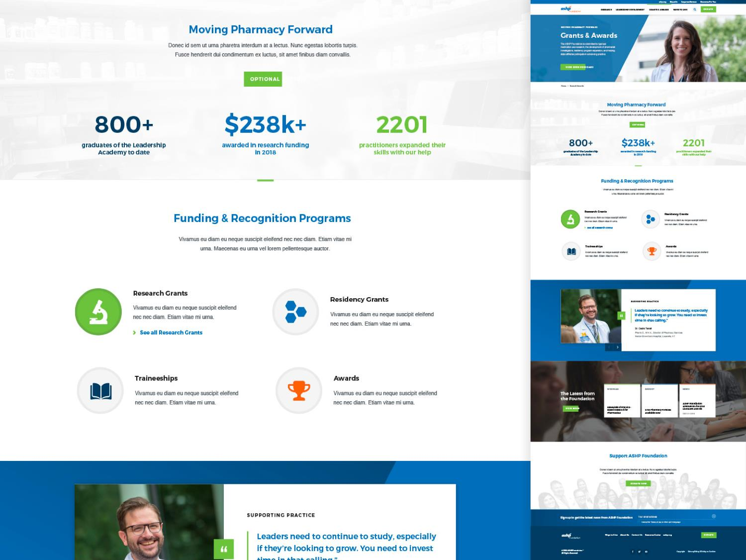 ASHP Foundation Website Strategy, Design and Development